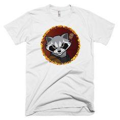 Rocket Raccoon with Baby Groot Shirt - White Baby Groot Shirt, Rocket Raccoon, Galaxy Shirts, Netflix, Third, Mens Tops, Stars, Star