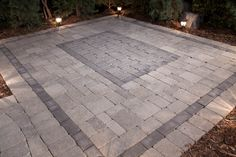 Our Stone Oasis prepackaged patio kits are available in rectangle with optional border, and includes everything you need for easy installation -- no cutting required.