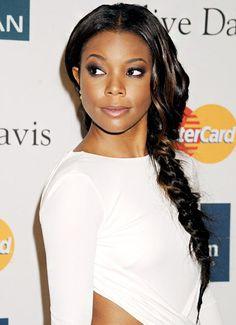 The Best Celebrity Braided Hairstyles: Gabrielle Union's Side Braid