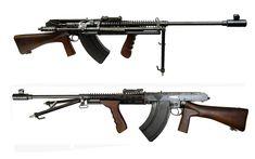Charlton Automatic Rifle - New Zealand - produced 1942-1945 Caliber .303 - 10 or 30 round box magazine - 600 rpm