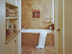 Try Open Shelving - Small Bathroom Design on HGTV