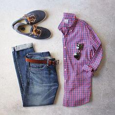 Homeward bound. Shirt: @bonobos Denim: RRL @ralphlauren Shoes: @vans @jcrew Belt: @jcrew