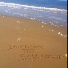 Jolanda tot september @mrsjolanda #jenaaminhetzand #yournameinthesand