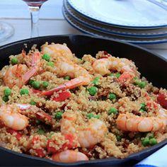 Gluten Free  - Quinoa and Shrimp Paella
