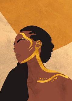 Black Art Painting, Black Artwork, Painting Of Girl, Black Love Art, Black Girl Art, Kunstjournal Inspiration, Feminist Art, Afro Art, Aesthetic Art