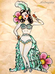 Rumbera by Alejandra L Manriquez. #tattoo #pinup