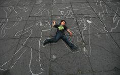 Protest art against drug war