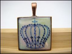 Resin Pendant Crown by BytheGulfCreations on Etsy, $18.00