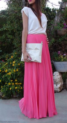 e18a85778afd SK71 Long Skirt Elegant Style Women Pastel Volume Candy Coloured Pleated  chiffon Maxi Skirts floor-length long skirt *** Check out thi…