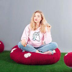 Who's spending Sunday like a unicorn on a giant toadstool? ❤️ #knitting #sincerelylouise #knitstagram #maker #yarn #wool #brixton #london #etsy #knittingaddict #makersgonnamake  #shareyourknits  #knittersofinstagram #crochet #knittersoftheworld  #diy #kit  #wiwt #styling #fashion #style #unicorn #toadstool #unicornlove #fairygarden #magicalgirl #asos #topshop
