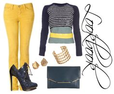 navy and yellow combo