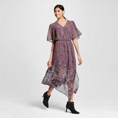Women's Wrap Midi Dress Purple - Xhilaration™ (Juniors') : Target