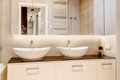 Modern Bathroom by Perfect Space. Minimalist Interior, Minimalist Decor, Minimalist Style, Studio Apartment, Clean Design, Small Apartments, Modern Bathroom, Double Vanity, Bathtub