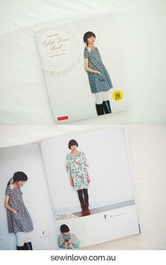 This is one of my fave Japanese sewing pattern books. Stylish Dress Book has gorgeous smock style dresses and tunics which are easy to sew. Learn to sew Japanese patterns at www.japanesesewingpatterns.com