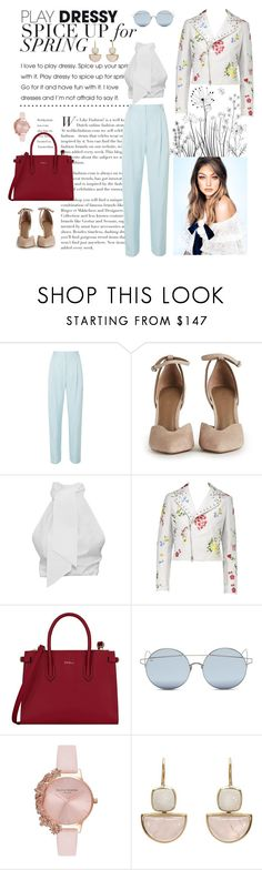 """Spring"" by laurapaganiposta ❤ liked on Polyvore featuring TIBI, Furla, For Art's Sake and Olivia Burton"
