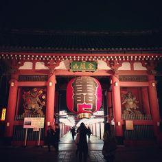 浅草寺 雷門 (Kaminarimon Gate) şu şehirde: 東京, 東京都