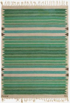 Marianne Richter; Wool Flat-Weave Rug by  Marta Maas-Fjetterstrom AB, c1950.