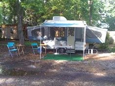 Set Up In My Yard We bought a Pop-Up Camper off of E-bay in November 2009, and I have had it set up in my yard about half the time since...