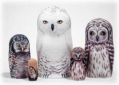 Snowy Owl Doll 5pc./6