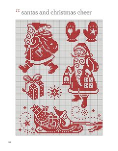 Father Christmas in Redwork - chart 7