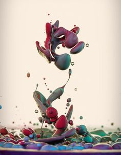 High Speed Photographs of Ink Mixing with Oil by Alberto Seveso