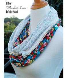 Tutorial: 1-hour floral and lace infinity scarf