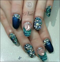 Check out some mermaid inspired nail art that will have you mermaid nails colours of the sea love with these nails prinsesfo Image collections