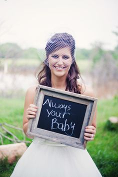 a small net for a headpiece could be great for a vintage or rustic bride - thereddirtbride.com - see more of this wedding here Rustic Wedding Hairstyles, Vintage Hairstyles, Vintage Hair Accessories, Framed Chalkboard, Summer Diy, Our Wedding Day, Big Day, Headpiece, Groom