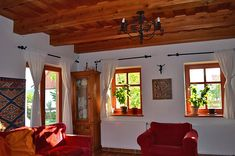 Együtt élni a tájjal Oak Frame House, Entry Furniture, Indian Home Interior, Cottage Homes, My Dream Home, Valance Curtains, Sweet Home, Home And Garden, Living Room