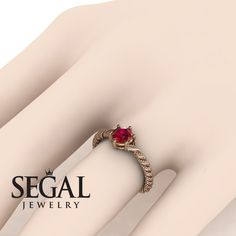 Rose Gold Engagement Ring by Segal Jewelry Vintage Gold Engagement Rings, Elegant Engagement Rings, Antique Wedding Rings, Rose Gold Engagement Ring, Designer Engagement Rings, Diamond Wedding Rings, Fashion Rings, Blue Sapphire, Sapphire Rings