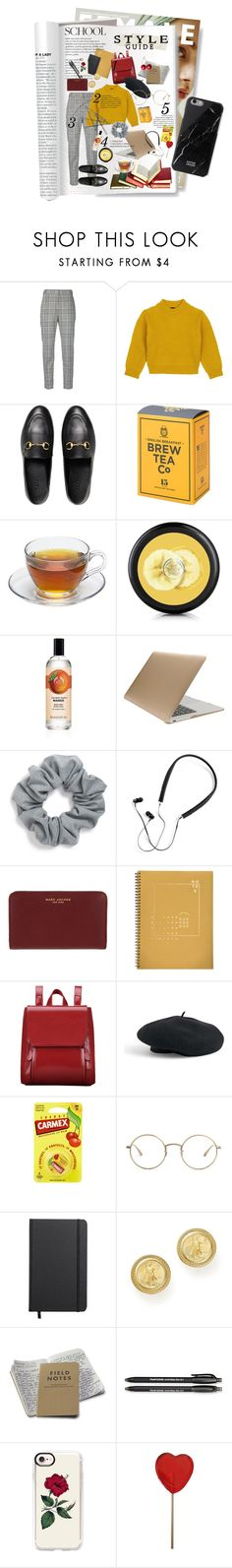 """""""private school looks"""" by nowire ❤ liked on Polyvore featuring Alexander Wang, Comme Moi, Gucci, Tucano, Natasha, Polaroid, Marc Jacobs, Revel & Co., Venus and Carmex"""