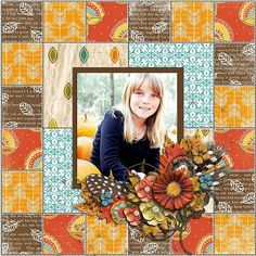 Digital Scrapbook Page Layout by Juli using the Quilted Mosaic Kit and Climbing Trees and Falling Leaves from Etc by Danyale at The Lilypad #etcbydanyale #digitalscrapbooking #memorykeeping #fall #changingleaves