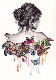ʚįɞ Beautiful ༻ Butterfly Illustration by Unknown Artist Art Papillon, Art Amour, Butterfly Art, Butterfly Sketch, Butterfly Dress, Madame Butterfly, Butterfly Painting, Butterfly Kisses, Watercolour Butterfly