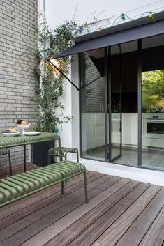 THIS Is the Right Way to Do a Door Awning | Architectural Digest Deck Awnings, House Awnings, Outdoor Awnings, Outdoor Blinds, Window Awnings, Outdoor Rooms, Outdoor Living, Outdoor Decor, Outdoor Kitchens
