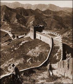 The Great Wall of China, 1907 by Herbert G. Ponting
