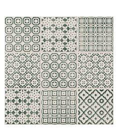 Batik Patchwork Green Wall tiles £60sqm  Topps Tiles