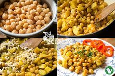 Kuchařka ze Svatojánu: PIKANTNÍ CIZRNA Raw Food Recipes, Vegetarian Recipes, Healthy Recipes, Quinoa, Food And Drink, Low Carb, Vegetables, Eat, Cooking
