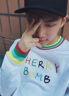 BTS Tweet - Rap Mon (selca) 150612 -- 체리밤 -- [tran] Cherry Bomb