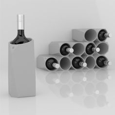 The Corvi Concrete Wine Cooler is an extravagant new design for wine lovers and those who love to entertain, by Fran Corvi of Argentina-based studio PPi3D.