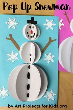 Pop Up Christmas Cards - Art Projects for Kids
