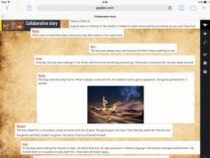 Here's a screen capture of my padlet. I started a story and students had to continue it and give it an end. They found it easy to do and found it funny