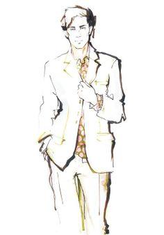 Alena Lavdovskaya: Men's Fashion Illustration III