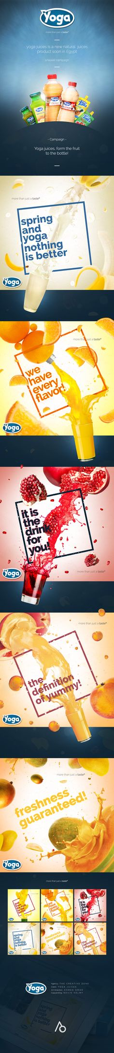 yoga juices is a new natural juices product soon in Egypt.a teaser campaign