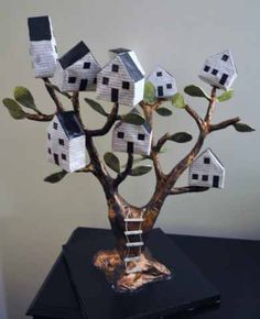 diann mcdonalds paper mache tree house