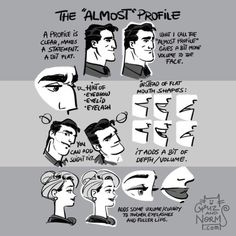 Almost profile, head, face