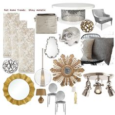Fall Home Trend:  Beautify your home this fall by adding metalic accents!
