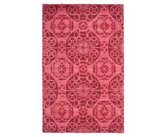 Handgeknoopt tapijt, rood, 153 x 244 cm   Westwing Home & Living