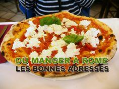 Les bonnes adresses où manger à Rome loin des quartiers touristiques et savourer des vrais pizzas, pâtes, mozzarella pour pas cher.