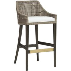 Palecek Vincent Counter Barstool ($744) ❤ liked on Polyvore featuring home, furniture, stools, barstools, palecek bar stools, palecek furniture, palecek, woven stool and woven bar stools