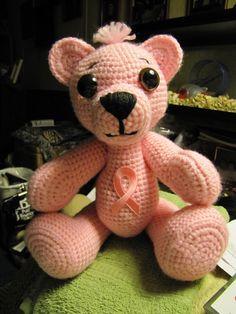 Pinky bear, my 1st breast cancer bear.